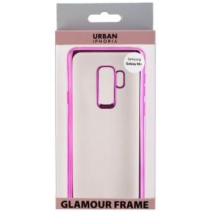 URBAN STYLE Back Cover GLAMOUR FRAME für Samsung Galaxy S9 Plus Pink