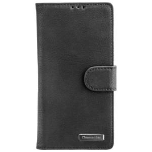 COMMANDER Handytasche BOOK CASE ELITE für Sony Xperia XA2 - Schwarz