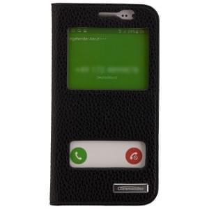 COMMANDER Premium Handytasche DOUBLE WINDOW für Samsung Galaxy J5 - Black