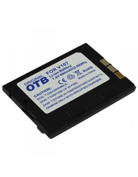 CE zertifiziert Akku, Ersatzakku für JVC BN-V107 Li-Ion silber