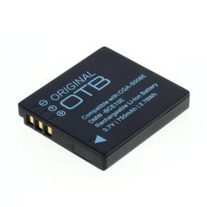 Ersatzakku ersetzt Panasonic DMW-BCE10E / CGA-S008 / Ricoh DB-70 Li-Ion