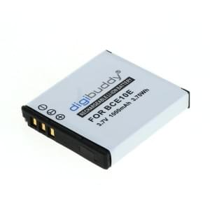 Ersatzakku ersetzt Panasonic DMW-BCE10E / CGA-S008 / Ricoh DB-70 Li-Ion 1000mAh