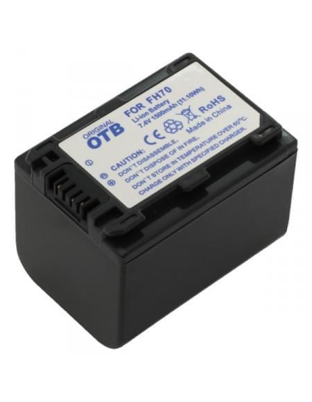 CE zertifiziert Akku, Ersatzakku ersetzt Sony NP-FH70 / NP-FP70 Li-Ion - 1500mAh