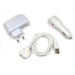 Zubehörset für Apple iPhone 3G / 3 GS / iPhone 4 / 4S / iPod weiß