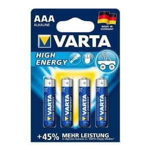 Varta Batterie High Energy AAA Micro 4903 - 4er-Blister