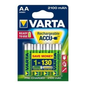 Varta Akku Longlife Accu Mignon AA Ready 2 Use NiMH 2100mAh 56706 - 4er Blister