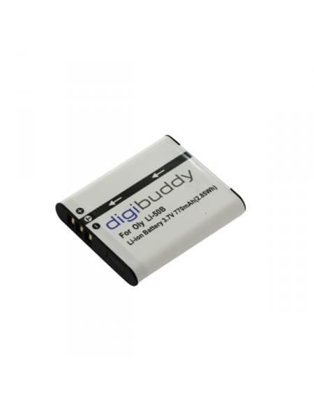 CE zertifiziert Akku, Ersatzakku ersetzt Olympus LI-50B / Pentax D-Li92 / Ricoh DB-100 Li-Ion 770mAh