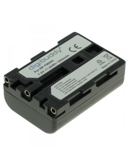 CE zertifiziert Akku, Ersatzakku ersetzt Sony NP-FM55H / NP-QM51 Li-Ion