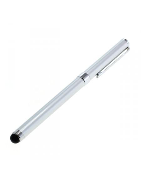 Stylus-Kugelschreiber mit Soft Tip-Spitze, silber