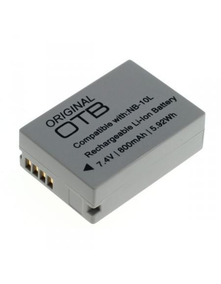 CE zertifiziert Akku, Ersatzakku ersetzt Canon NB-10L Li-Ion