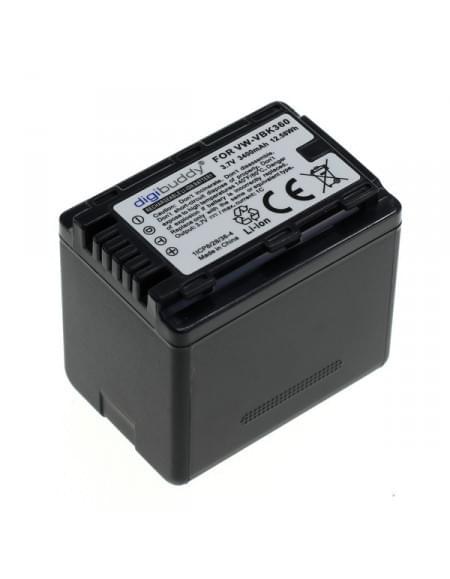 Akku, Ersatzakku für Panasonic ersetzt VW-VBK360 3400mAh Li-Ion