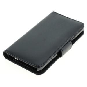 Ledertasche PU Leder für Samsung Galaxy S II GT-I9100 Bookstyle schwarz