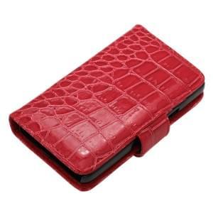 Kunstledertasche für Samsung Galaxy S II I9100 Croco Rot