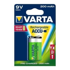 Varta Akku Power Accu 9V E-Block Ready 2 Use NiMH 200mAh 56722