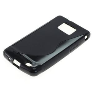Silikon Case / Schutzhülle für Samsung Galaxy S II I9100 S-Curve schwarz