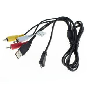 USB / AV Verbindungskabel für Sony Cyber-Shot - ersetzt VMC-MD3