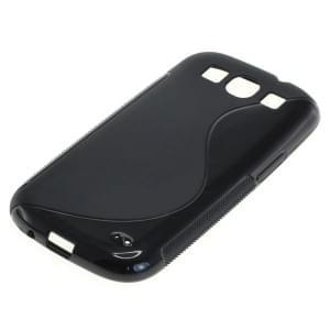 Silikon Case / Schutzhülle für Samsung Galaxy S III I9300 S-Curve schwarz