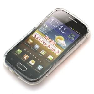 Silikon Case / Schutzhülle für Samsung Galaxy Ace 2 I8160 S-Curve transparent
