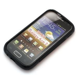 Silikon Case / Schutzhülle für Samsung Galaxy Ace 2 I8160 S-Curve schwarz