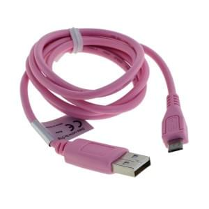 Datenkabel Micro-USB - 0,95m - pink