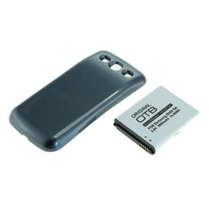 Ersatzakku für Samsung Galaxy S III i9300 Li-Ion fat 3900mAh mit blauem Backcover