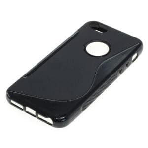 Silikon Case / Schutzhülle für Apple iPhone 5 / iPhone 5S S-Curve schwarz