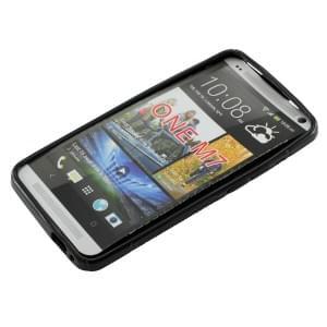 Silikon Case / Schutzhülle für HTC One S-Curve schwarz