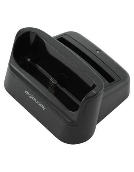 USB Dockingstation 1202 für Samsung Galaxy S4 I9500 - Basis Duo - schwarz