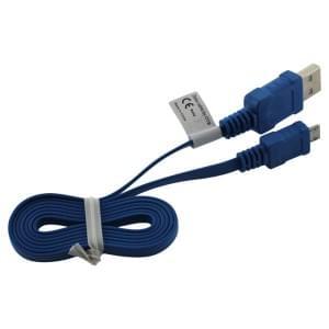 Datenkabel Micro USB - 0.95m - Flachbandkabel - blau