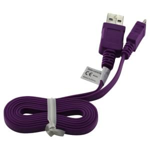 Datenkabel Micro-USB - 0.95m - Flachbandkabel - lila