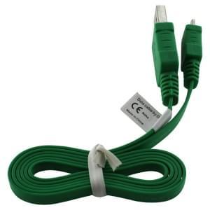 Datenkabel Micro-USB - 0.95m - Flachbandkabel - grün
