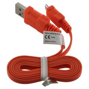 Datenkabel Micro-USB - 0.95m - Flachbandkabel - orange