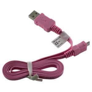 Datenkabel Micro-USB - 0.95m - Flachbandkabel - pink