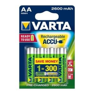Varta Akku Rechargeable Accu Mignon AA Ready 2 Use NiMH 2600mAh 5716 - 4er Blister