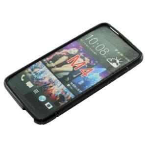Silikon Case / Schutzhülle für HTC One Mini S-Curve schwarz