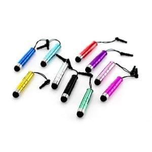 Stylus-Eingabestift Mini mit Soft Tip-Spitze und 3,5mm Staubschutzstöpsel - Set mit 10 Stück