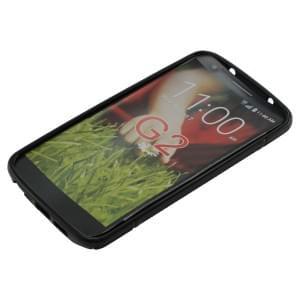 Silikon Case / Schutzhülle für LG G2 S-Curve schwarz