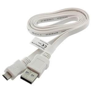 Datenkabel Micro-USB - 0.95m - Flachbandkabel - weiß