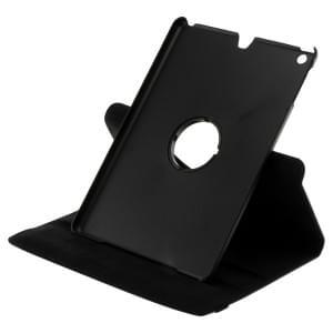 Ledertasche PU Leder für iPad Air - 360 Grad drehbar - schwarz