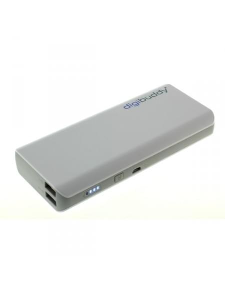 digibuddy Powerbank DB-11010 - externer Akkupack - Li-Ion - weiß