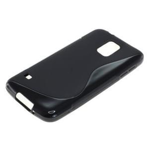 Silikon Case / Schutzhülle für Samsung Galaxy S5 SM-G900 S-Curve schwarz