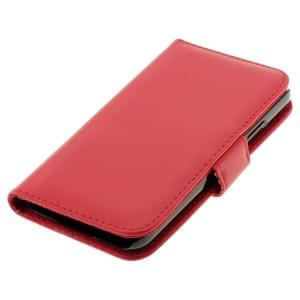 Ledertasche PU Leder für Samsung Galaxy S5 SM-G900 Bookstyle rot