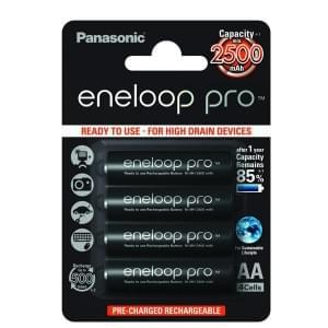 Panasonic eneloop Pro Akku AA - 4er-Blister (BK-3HDCE/4BE)