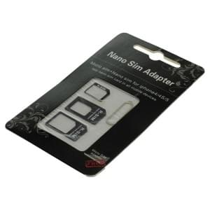 SIM Kartenadapter Set 4 in 1 Blister