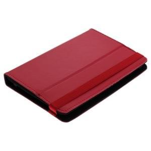 Universal Bookstyle Tasche für Tablets bis 7 Zoll Klett rot