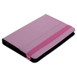 Universal Bookstyle Tasche für Tablets bis 7 Zoll Klett pink