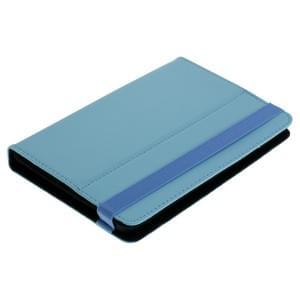 Universal Bookstyle Tasche für Tablets bis 7 Zoll Klett hellblau