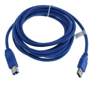 Datenkabel USB 3.0 Typ A auf Typ B - 3,0m - blau