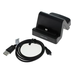 USB Dockingstation Samsung Micro USB Stecker variabler Connector schwarz
