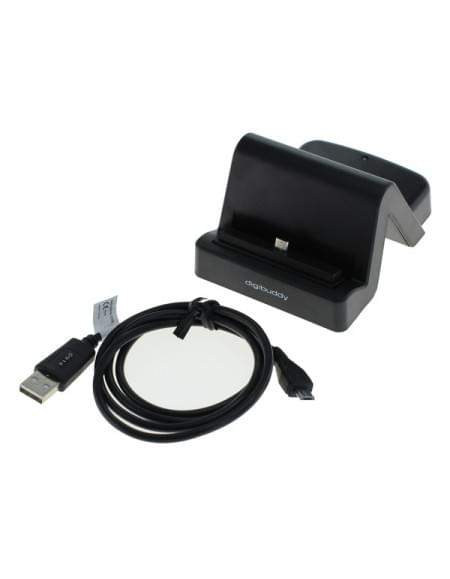 USB Dockingstation Samsung Micro USB Stecker variabler Connector - schwarz